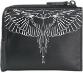 Marcelo Burlon County of Milan zip around wallet - men - Cotton/Leather - One Size