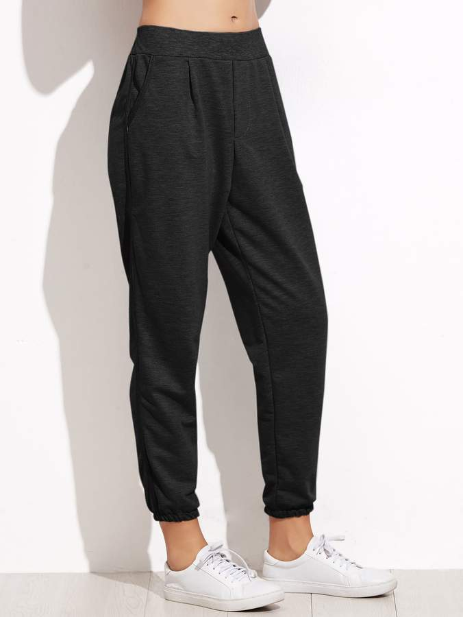 9d20dec36c Elastic Waist Tapered Leg Pants - ShopStyle