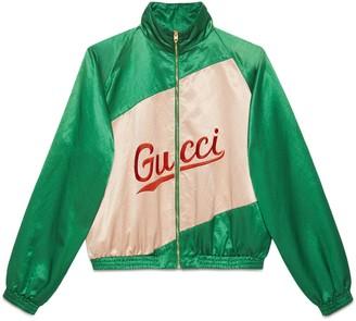 Gucci Cotton viscose jacket with script
