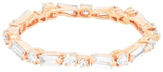 Suzanne Kalan Rose Gold and Diamond Fireworks Eternity Band Ring (Size 6)