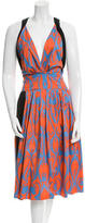 Sophie Theallet Printed Pleated Dress w/ Tags