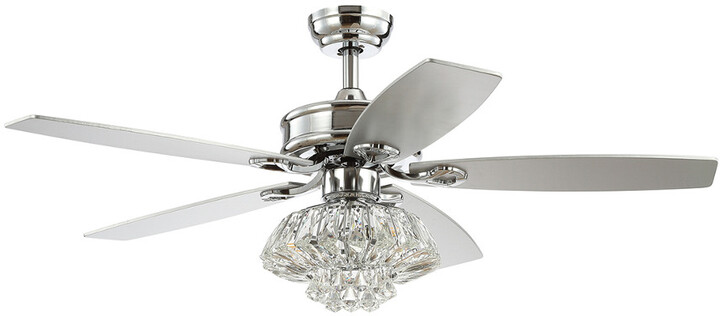 Thumbnail for your product : Jonathan Y Designs Kate 48In 3-Light Glam Crystal Drum Led Ceiling Fan With Remote