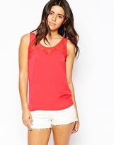 Vila Tank Top With Lace Detail
