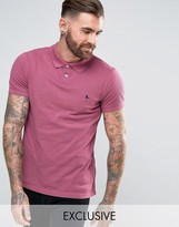 Jack Wills Aldgrove Polo Shirt with Pheasant Logo in Berry