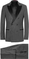 Brunello Cucinelli - Grey Slim-fit Double-breasted Wool, Silk And Cashmere-blend Tuxedo