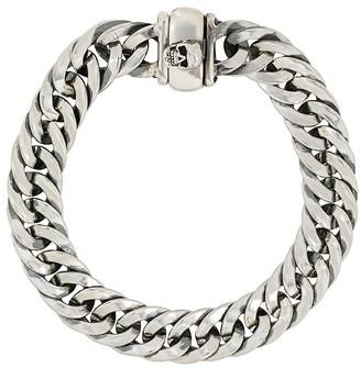 Emanuele Bicocchi Skull-Embellished Chain Bracelet