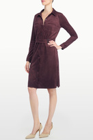 NYDJ Allison Faux Suede Shirt Dress