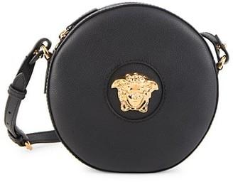 Versace La Medusa Leather Disco Bag