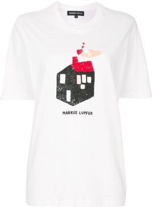 Markus Lupfer sequin-embellished house T-shirt