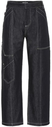 Chloé High-rise cropped jeans