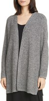 Eileen Fisher Simple Silk & Organic Linen Long Cardigan