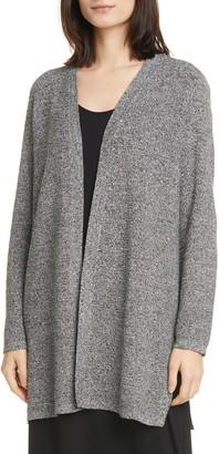 Eileen Fisher Simple Silk & Organic Linen Long Cardigan