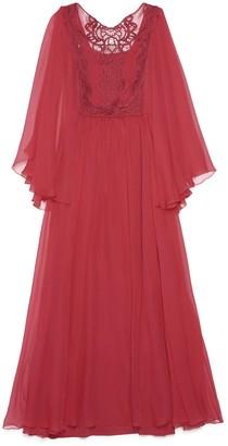 Alberta Ferretti Embroidered Lace Dress