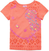 Hello Kitty Short-Sleeve Neon Coral Tee - Toddler Girls 2t-4t