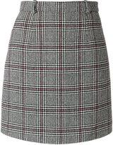 Carven check mini skirt