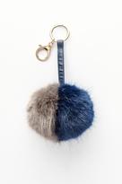 Dynamite Two-Tone Faux Fur Keychain