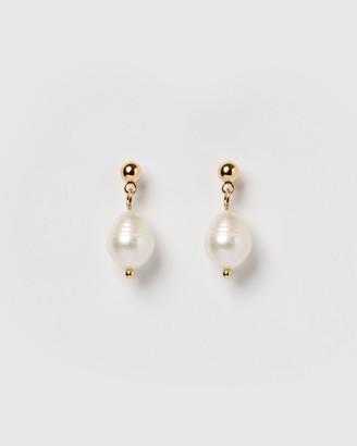 Izoa - Women's Gold Earrings - Rain Drop Earrings - Size One Size at The Iconic