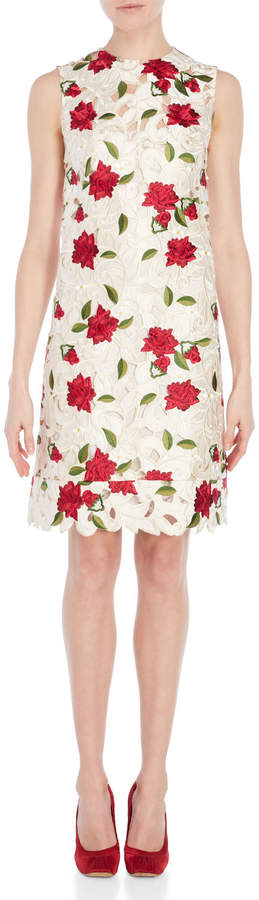 Dolce & Gabbana Floral Embroidered Sheath Dress
