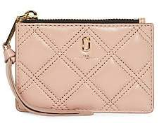 Marc Jacobs Women's The Softshot Zip Quilted Leather Card Case