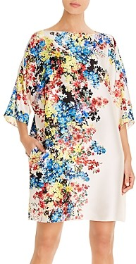 Paule Ka Floral Print Shift Dress