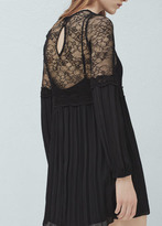 Mango Outlet Lace panel dress