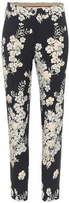 Etro Floral jacquard cigarette pants