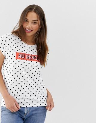 Blend She polka dot t-shirt-White