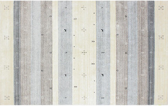 One Kings Lane Alvina Stripe Rug - Ivory/Gray