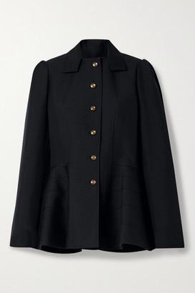 Loewe Wool-twill Peplum Jacket - Navy
