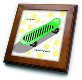 3dRose LLC ft_1304_1 Kids Stuff - Skateboard - Framed Tiles