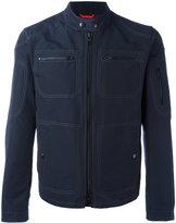 Fay collarless jacket - men - Cotton/Polyamide - L