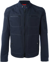 Fay collarless jacket - men - Cotton/Polyamide - S
