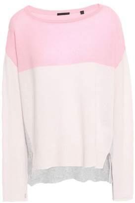 ATM Anthony Thomas Melillo Color-block Cashmere Sweater