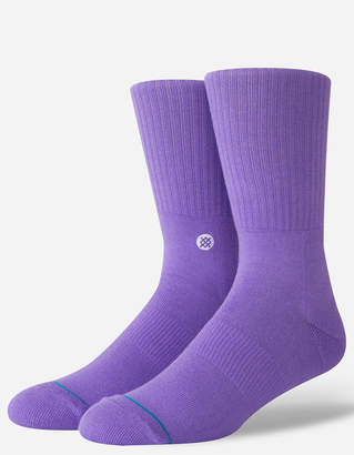 Stance Icon Purple Mens Crew Socks