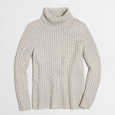 J.Crew Factory XO cable turtleneck sweater