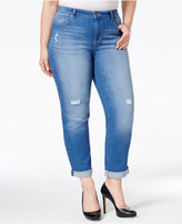 Style&Co. Style & Co Plus Size Distressed Saint Wash Boyfriend Jeans, Only at Macy's
