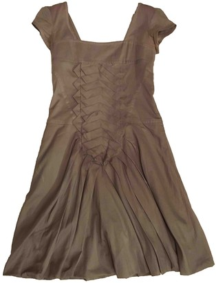 Christian Lacroix Khaki Cotton Dress for Women Vintage