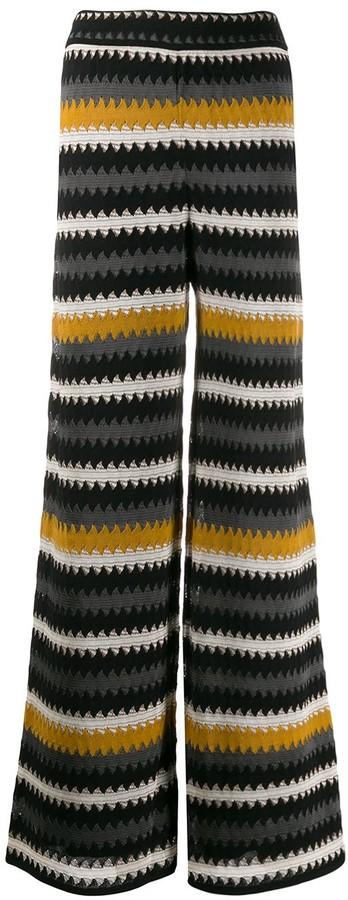 M Missoni striped wide trousers