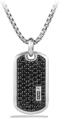 David Yurman Pave Tag with Black Diamonds