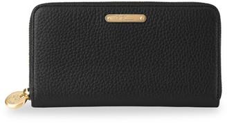 GiGi New York Large Leather Zip-Around Wallet