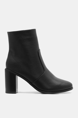 Ardene Faux Leather Booties - Shoes |