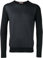 Cruciani embroidered knitted sweater - men - Silk/Cashmere - 48