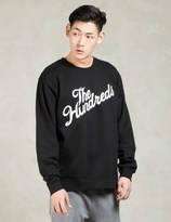 The Hundreds Black Forever Slant Crewneck