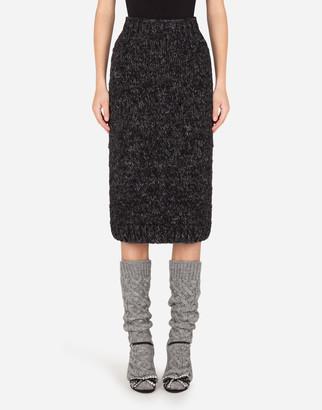 Dolce & Gabbana Knit Calf-Length Pencil Skirt