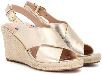 Stuart Weitzman Paris leather wedge espadrilles