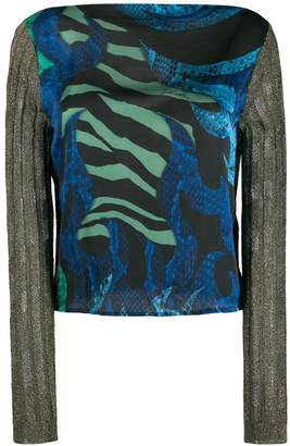 Just Cavalli knitted sleeve top