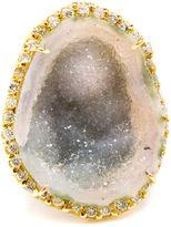 Kimberly Mcdonald 18k Yellow Gold Diamond & Geode Ring