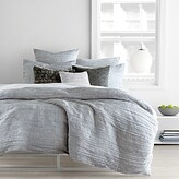 DKNY City Pleat Grey Duvet Cover, Full/Queen
