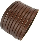 Beans, Multi Stands Comfortable Leather Casual Cuff Wristband (LBCT8026)