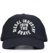 Diesel embossed logo cap